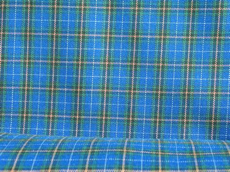 tartan print small print blue nova scotia tartan fabric blue miniature