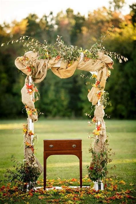 garden arbor plans autumn weddings pics 27 fall wedding arches that will make you say i do
