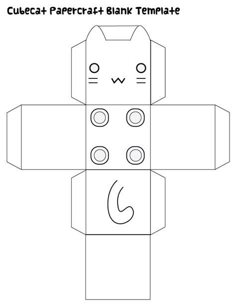 Papercraft Printable Templates - cubecat papercraft blank template by kvweber on deviantart