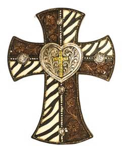 Home Decor Crosses Western Zebra Cross Home Decor Wall Christian Decoration