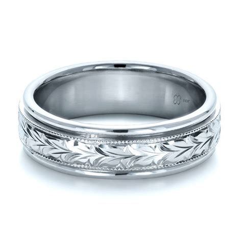 Engraved Wedding Bands by Custom Engraved Wedding Band 1213 Bellevue Seattle
