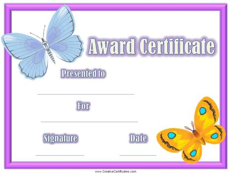 kid certificate templates free printable free certificates for certificate templates