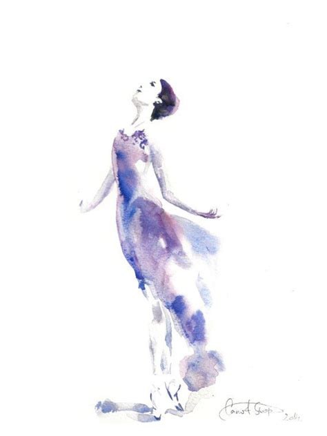 watercolor tattoo hessen ballerina original watercolor painting ballet by
