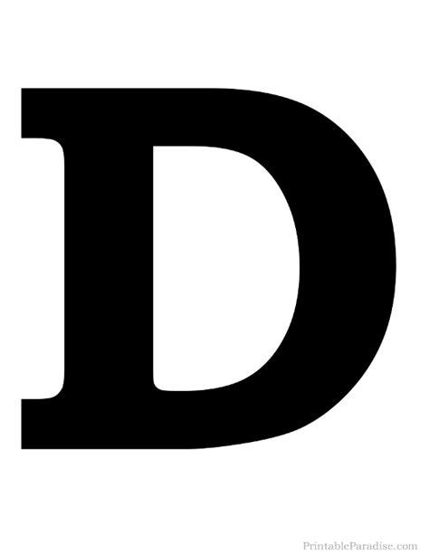 lettere d printable solid black letter d silhouette letter