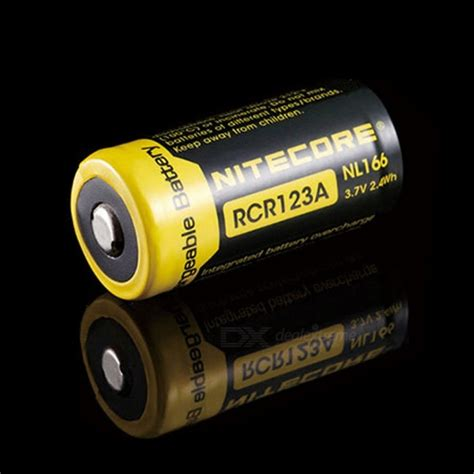 Nitecore Rcr123a Rechargeable Li Ion Battery 650mah 3 7 Diskon 1 nitecore nl166 16340 rcr123a 3 7v 2 4wh 650mah lithium