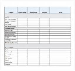 Monthly Budget Template Pdf Personal Budget Templates 7 Free Samples Examples