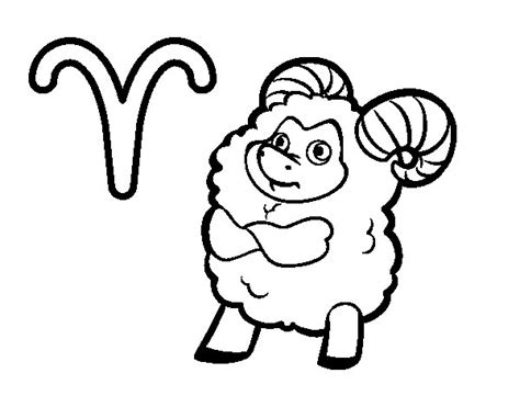 aries color aries horoscope coloring page coloringcrew