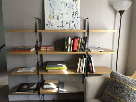 ikea shelves and tags on