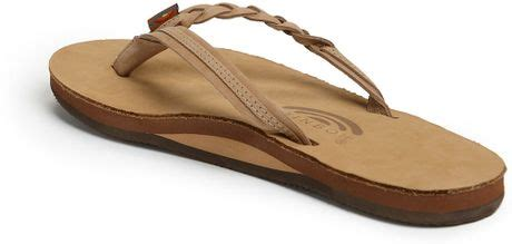 rainbow braided sandals rainbow sandals flirty braided leather flip flop in