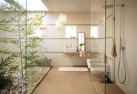 Modern Japanese Bathroom Zen Bathroom Garden Interior Design Ideas