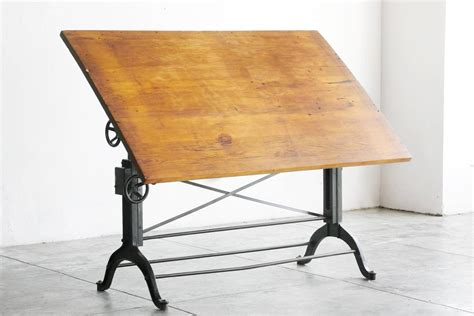 Frederick Post Drafting Table Antique Cast Iron Drafting Table By The Frederick Post Company At 1stdibs