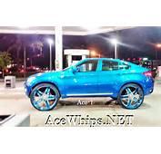 Candy Teal BMW X6 On 30 ASANTI
