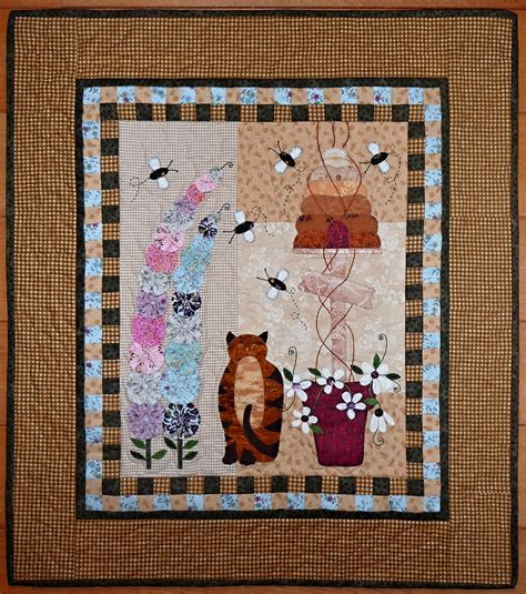 Busy Bees Patchwork - patchwork ko芻ky m 237 ci busy bees wall hanging