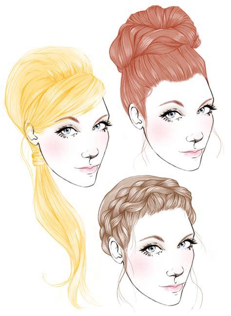fashion illustration hair fashion illustration templates faces www pixshark