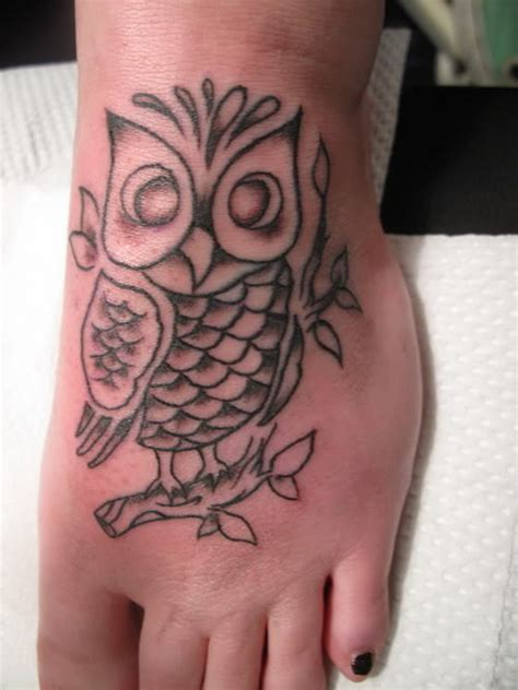 owl tattoo designs for foot original owl tattoo owl foot tattoo on tattoochief com