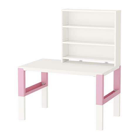 p 197 hl desk with shelf unit white pink ikea