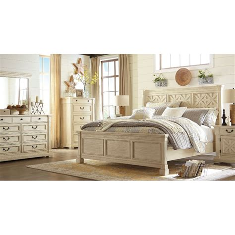 Panel Bedroom Set by Furniture Bolanburg Panel Bedroom Set In White