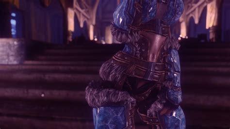 brand new stalhrim armor for uunp hdt at skyrim nexus mods and brand new light stalhrim armor for cbbe hdt bodyslide at