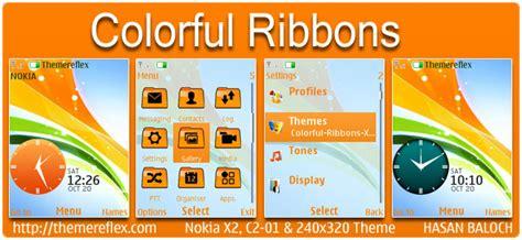 nokia c2 colorful themes nokia x2 02 theme themereflex