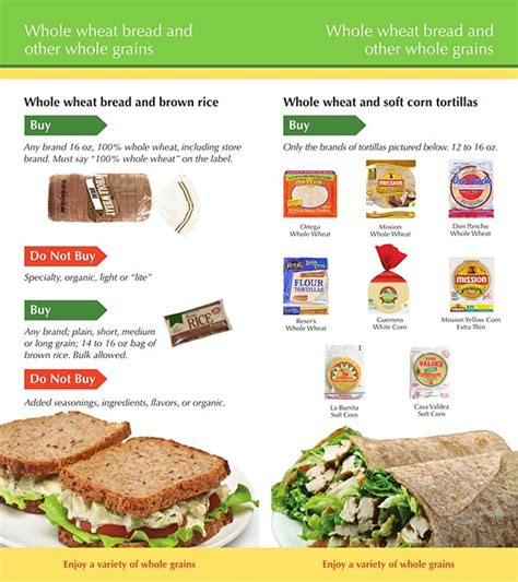 whole grains wic florida idaho wic food list