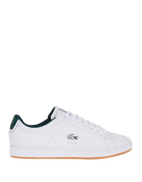 lacoste leather sneakers lacoste carnaby leather sneakers in white lyst