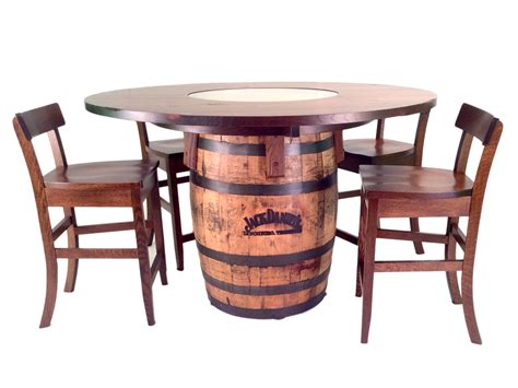 Oak Dining Room Table Chairs jack daniels barrel table and bar stools 5 pc set
