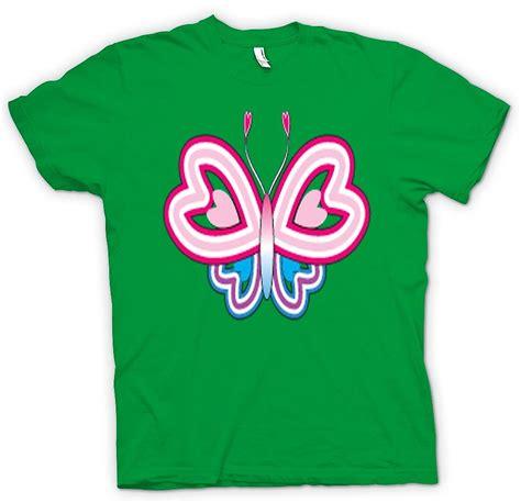 butterfly pattern t shirt kids t shirt butterfly pattern with heart wings fruugo
