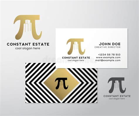 business card sign up template constant estate abstract vector premium business card