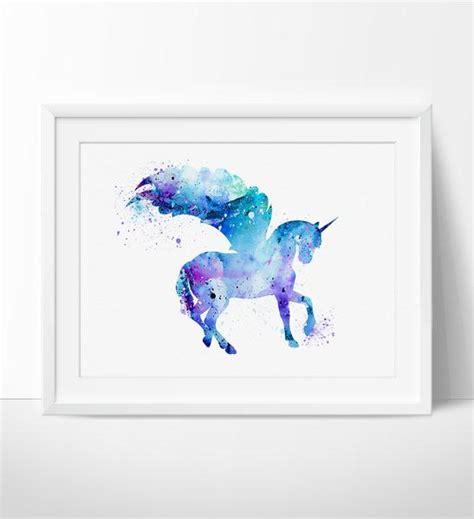 unicorn printable art unicorn watercolor print unicorn art print watercolor