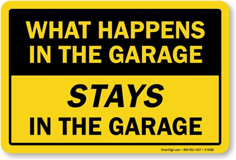 Garage Sign by Garage Signs Cave Signs Humorous Garage Signs