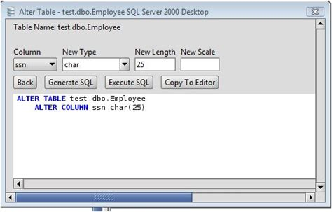 Ms Sql Server Change Column Type Of Ms Sql Server Database Sql Server Alter Table Change Column Name