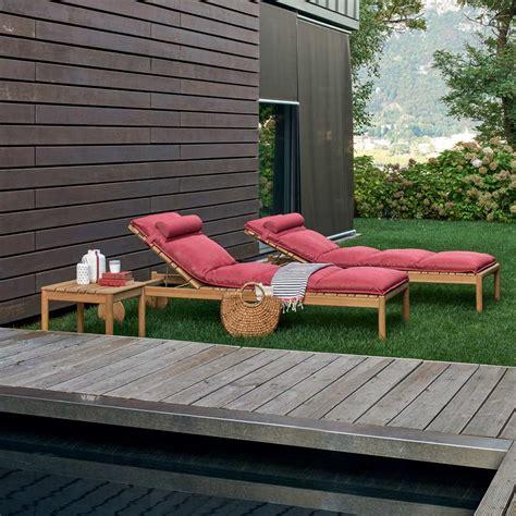 lettino da giardino in legno varaschin barcode lettino con ruote da esterno in legno di