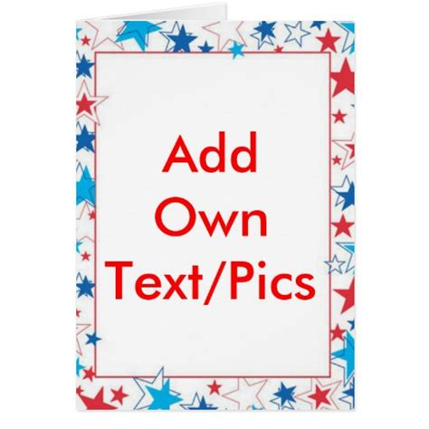 4th of july photo card template make your own greeting card free xcombear