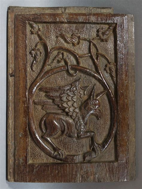 interesting late medieval gothic carved oak panel