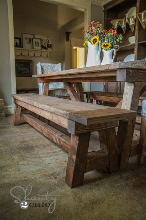 dining room table with benches diy 40 bench for the dining table shanty 2 chic