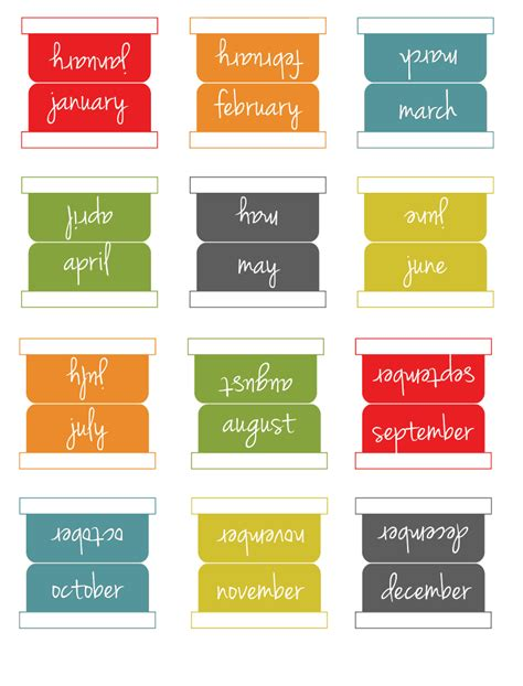 Printable Monthly Planner Tabs | printable monthly tabs planen zeit pinterest