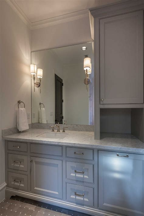 bathroom vanity linen cabinet interior design ideas