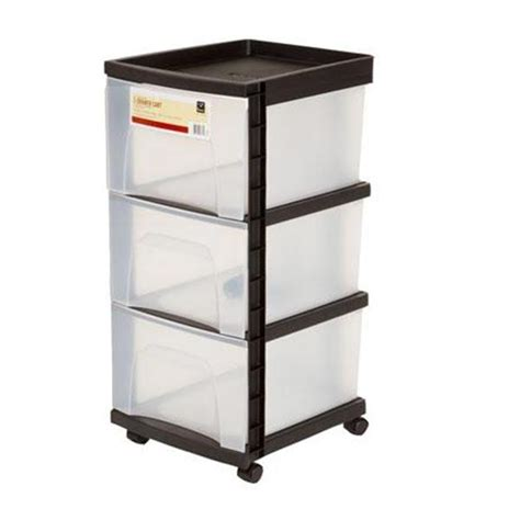 rolling storage cart with 3 drawers storage cart