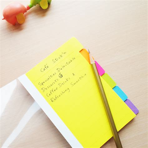 N Notes Pronto Color neon 6 colors magic divider notes