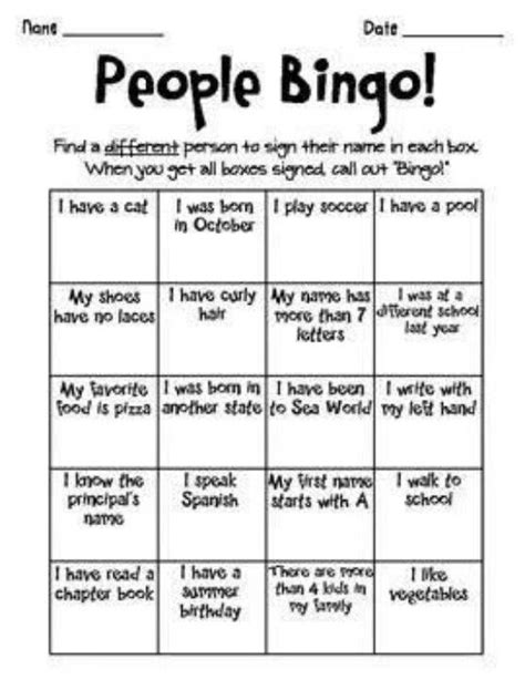 icebreaker template bingo school rocks tes doors and