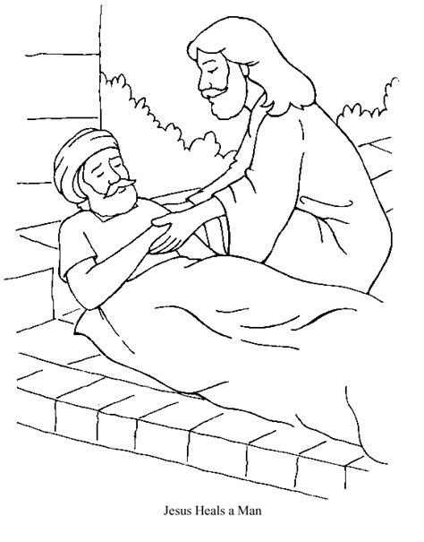 coloring page jesus heals deaf jesus heals the sick coloring pages