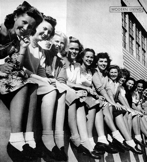 vintage photo blue jeans and bobby sox girl gang 45 interesting vintage photographs that show bobby soxers