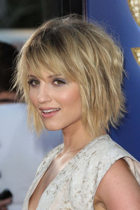 chin length shaggy hairstyles with bangs chin length layered haircuts
