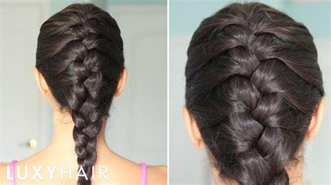 flat twist braid to scalp step by step cute summer how to basic french braid youtube