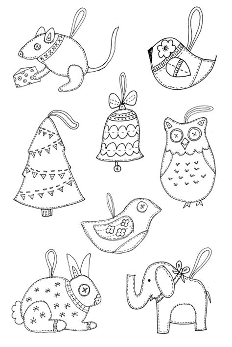 Templates For Felt Ornaments Felt Christmas Ornament Templates