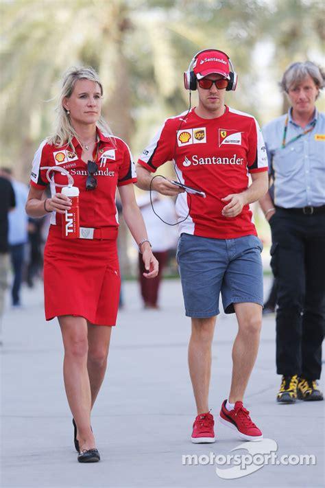 Sebastian Vettel and Britta Roeske, Ferrari Press Officer