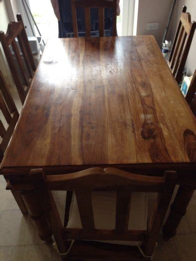 Large Family Dining Table Large Family Dining Table 6 Chairs In Condition For Sale In Clonee Dublin From Sham157