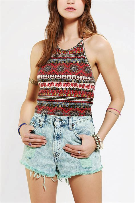 urban outfitters multicolor truly madly deeply cropped