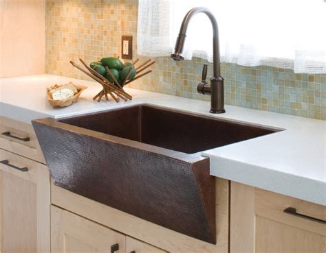 drop in copper kitchen sinks beautiful drop in farmhouse copper kitchen sinks modern