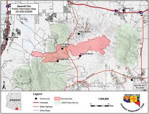 fires in arizona map firefighters make progress on the sawmill in arizona
